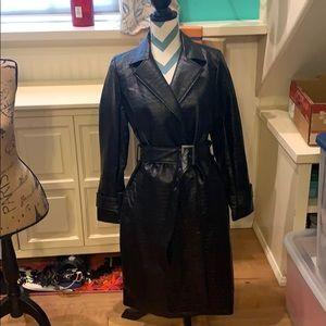 NWT Fashion Nova Black Trench Coat Size M